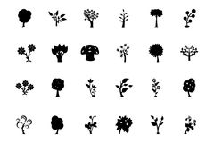 Trees Vector Icons 3 Stock Photography