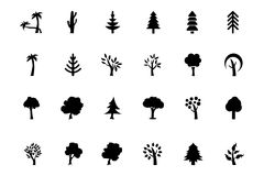 Trees Vector Icons 2 Stock Images