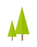 Trees Vector Illustration in Flat Design. Royalty Free Stock Images