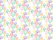 Trees Vector Pattern Royalty Free Stock Photo