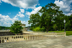 Trees and walkways at Fairmount Park, in Philadelphia, Pennsylva Stock Photo