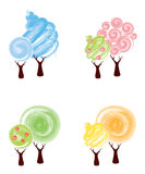 Trees - Winter, spring, summer, autumn Royalty Free Stock Images