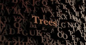 Trees - Wooden 3D rendered letters/message Royalty Free Stock Photo