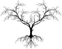 Treesilhouette utan leafen för dig design Arkivfoton