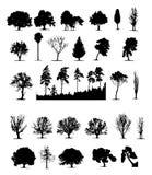 treesvektor stock illustrationer