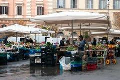 Treet市场在Trastevere邻里在罗马 库存照片
