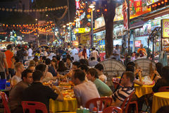 Treet-Restaurant Jalan Alor Lizenzfreie Stockbilder