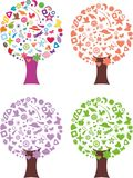 Αφηρημένο εποχιακό δέντρο Στοκ εικόνα με δικαίωμα ελεύθερης χρήσης