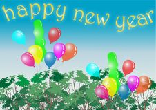 Treetop happy new year Royalty Free Stock Image