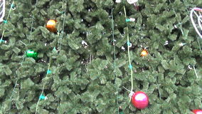 Treetop star decoration stock video