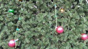 Treetop star decoration stock video