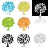 treevariants Vektor Illustrationer