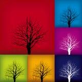 treevariationsvektor stock illustrationer