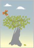 treevektor royaltyfri illustrationer