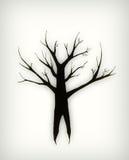 treevinter vektor illustrationer