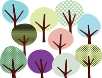 treewallpaper Arkivbilder