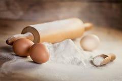 Tref voor baksel voorbereidingen Stock Fotografie