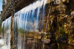Trefaldig vattenfall Arkivfoto