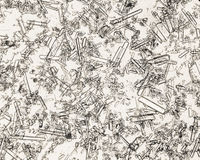 Trefaldiga fosfatkristaller i mänsklig urinbottensats Arkivbild