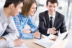 Treffen in der Bank Lizenzfreie Stockfotos