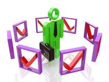 Treffen der rechten Entscheidungen Lizenzfreies Stockfoto
