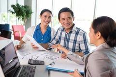 Treffen des Finanzberaters Lizenzfreie Stockbilder