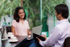 Treffen des Kunden Stockfotos