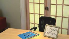 Treffen des laufenden Zeichens Lizenzfreies Stockfoto