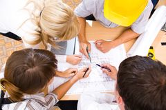 Treffen des Teams der Ingenieure Lizenzfreie Stockfotos