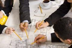 Treffen des Teams der Ingenieure Lizenzfreie Stockfotografie