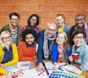 Treffen des Unternehmensverbindungs-Designers Creativity Concept Stockfotos