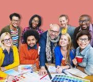 Treffen des Unternehmensverbindungs-Designers Creativity Concept Stockfotografie