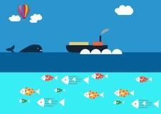 Treffen des Wals stock abbildung
