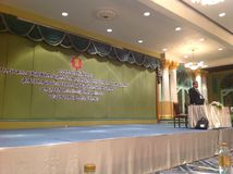 Treffen in einem Hotel in Bangkok Thailand Stockbild