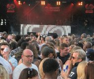 Treffen am Festival Lizenzfreies Stockfoto