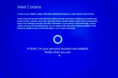 Treffen Microsoft Windows Cortana Lizenzfreies Stockfoto