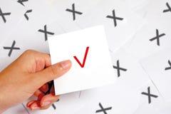 Treffen Sie rechte Wahl Lizenzfreies Stockbild