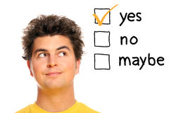 Treffen von Entscheidungen Stockbilder