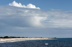Sand dunes in finistere coast Stock Photo