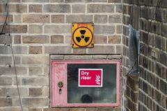 Trefoil Radiation warning sign royalty free stock photography