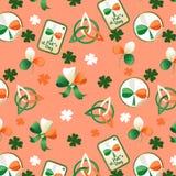 Trefoil seamless. St. Patricks Day background Royalty Free Stock Photos
