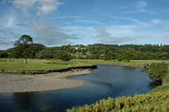 Trefriw Valley. A view of the afon/river conwy near trefriw in the vale of conwy Royalty Free Stock Photo