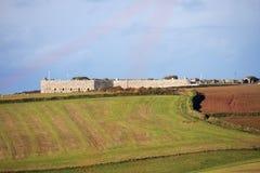 Tregantle fort, Cornwall arkivbild