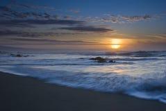tregardock захода солнца пляжа Стоковые Фото