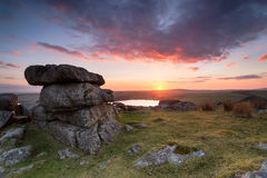 Tregarrick Tor on Bodmin Moor Royalty Free Stock Image