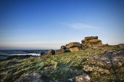 Tregarrick tor Cornwall UK Royalty Free Stock Image