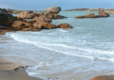Tregastel coast view (Brittany, France) Stock Images