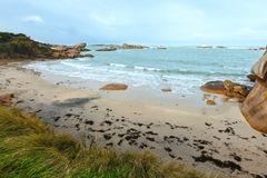 Tregastel coast view (Brittany, France) Royalty Free Stock Image