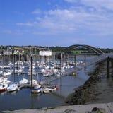 treguier Brittany marina France zdjęcia royalty free