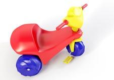 trehjuling för plast- 3D Arkivbilder
